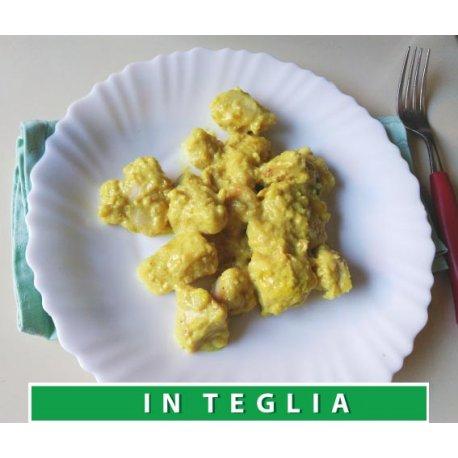 Pollo al Curry teglia da 1,5 kg.