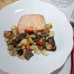 Salmone con Contorno Grigliato 160 gr.