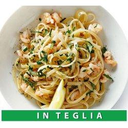 Tagliatelle con Gamberi e Zucchine teglia da 1,5 kg.