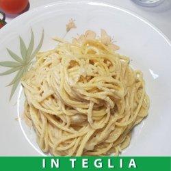 Spaghetti Cacio e Pepe teglia da 1,5 kg.